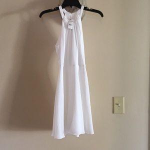 White express chiffon dress NWT